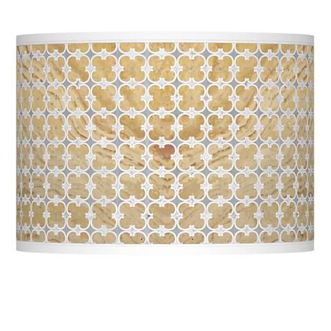 Marble Quatrefoil Giclee Lamp Shade 13.5x13.5x10 (Spider)