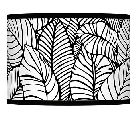 Tropical Leaves Giclee Lamp Shade 13.5x13.5x10 (Spider)