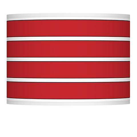 Bold Red Stripe Giclee Glow Shade 13.5x13.5x10 (Spider)