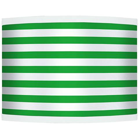 Green Horizontal Stripe Giclee Shade 13.5x13.5x10 (Spider)