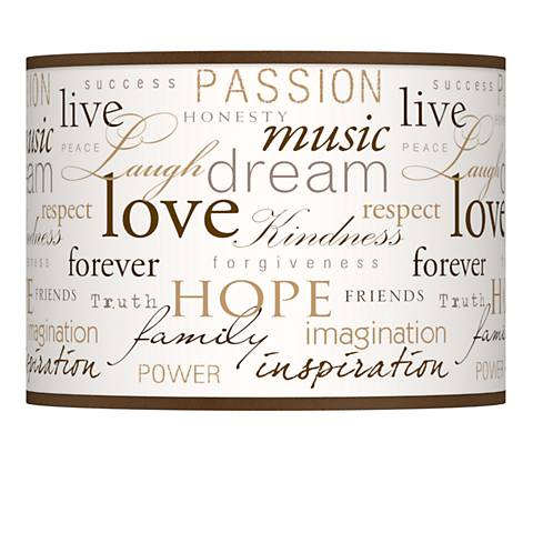 Positivity Giclee Glow Lamp Shade 13.5x13.5x10 (Spider)