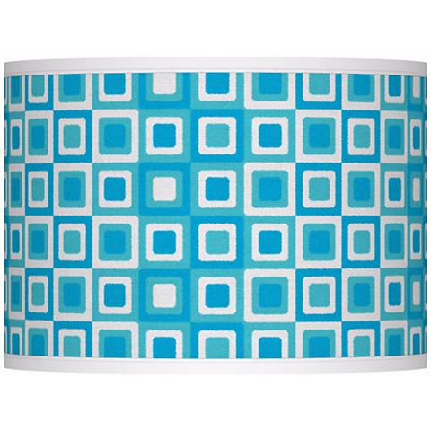 Blue Boxes Giclee Glow Lamp Shade 13.5x13.5x10 (Spider)