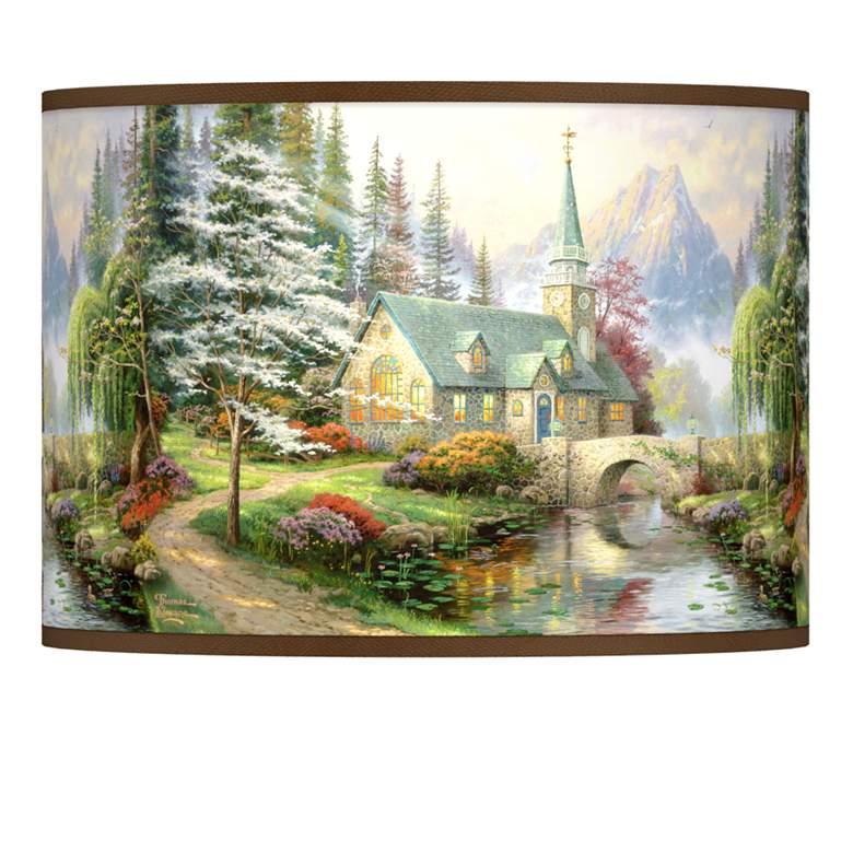 Thomas Kinkade Dogwood Chapel Shade 13.5x13.5x10