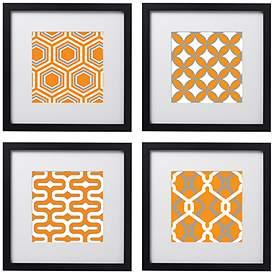 orange sets wall art lamps plus
