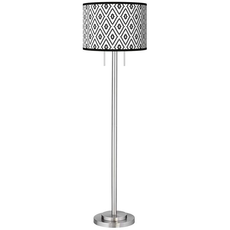 Black Diamonds Giclee Brushed Nickel Garth Floor Lamp