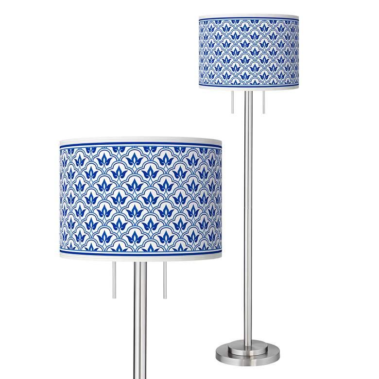 Arabella Giclee Brushed Nickel Garth Floor Lamp