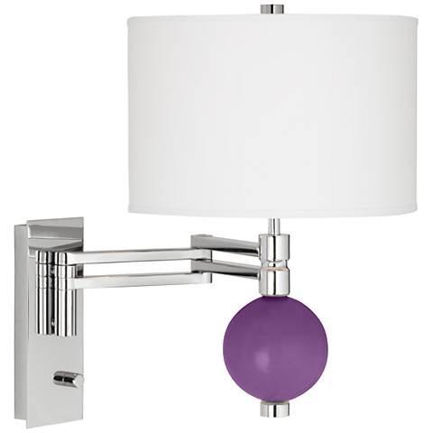 Passionate Purple Niko Swing Arm Wall Lamp