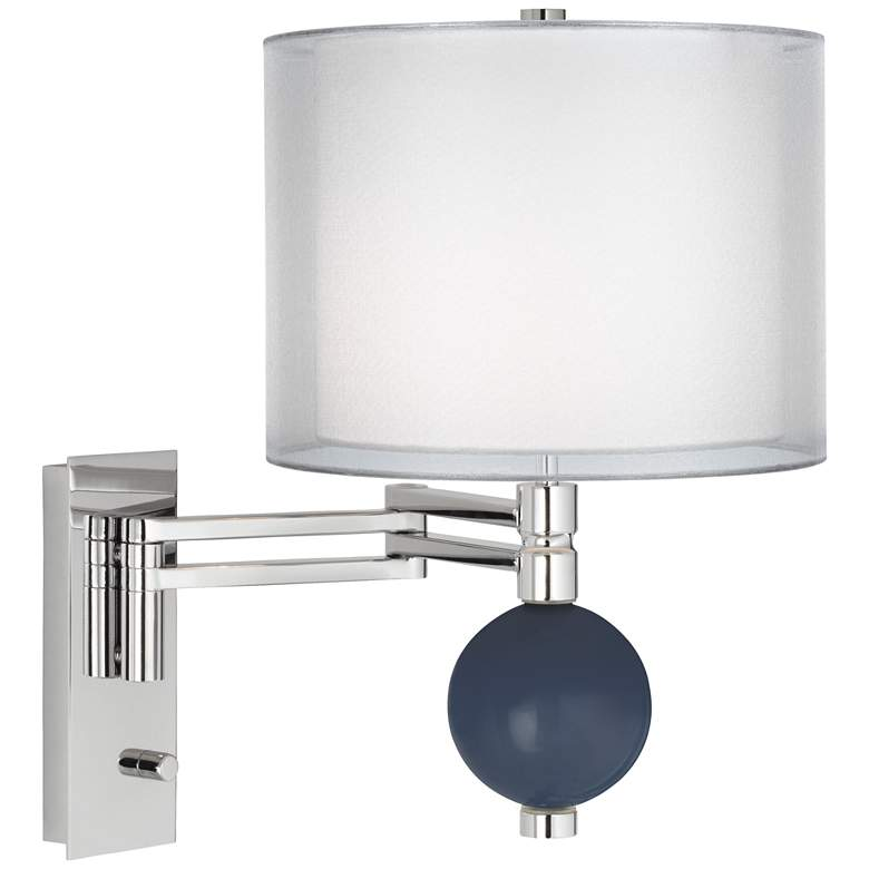 Naval Double Sheer Silver Shade Niko Swing Arm Wall Lamp 25j26 Lamps Plus