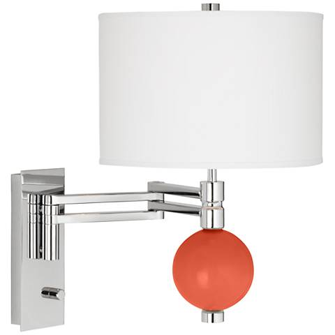 Daring Orange Niko Swing Arm Wall Lamp
