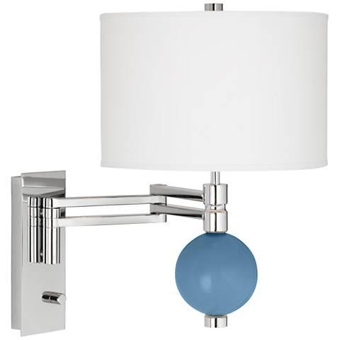 Secure Blue Niko Swing Arm Wall Lamp