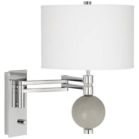 Requisite Gray Niko Swing Arm Wall Lamp