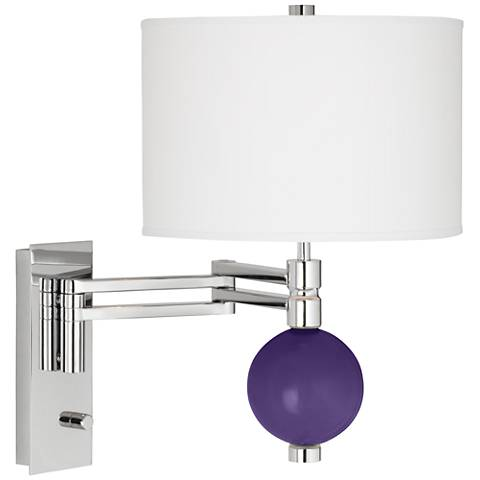 Izmir Purple Niko Swing Arm Wall Lamp