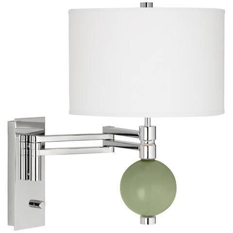 Majolica Green Niko Swing Arm Wall Lamp