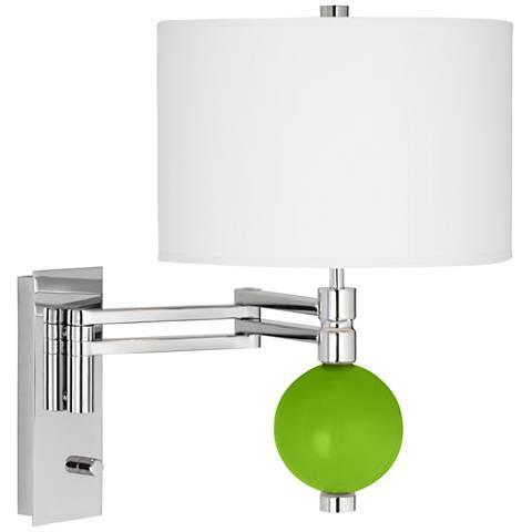 Neon Green Niko Swing Arm Wall Lamp