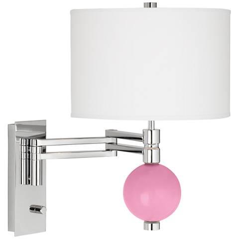 Pale Pink Niko Swing Arm Wall Lamp
