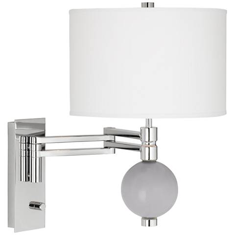 Swanky Gray Niko Swing Arm Wall Lamp