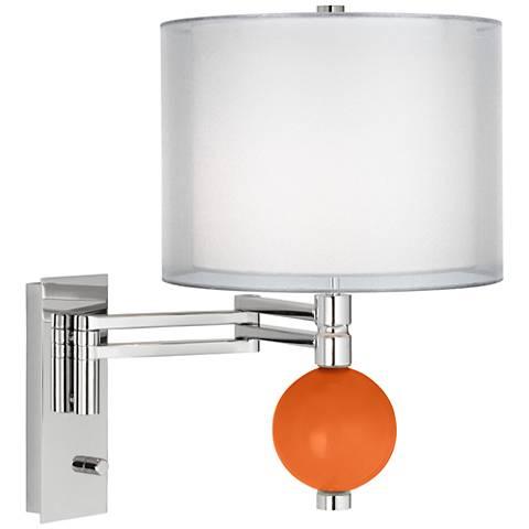 Invigorate Sheer Double Shade Niko Swing Arm Wall Lamp
