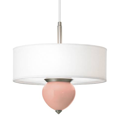 """Mellow Coral Cleo 16"""" Wide Pendant Chandelier"""