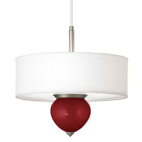 "Cabernet Red Metallic Cleo 16"" Wide Pendant Chandelier"