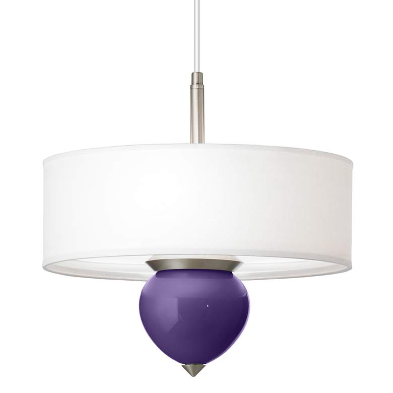 "Izmir Purple Cleo 16"" Wide Pendant Chandelier"