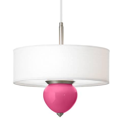 "Blossom Pink Cleo 16"" Wide Pendant Chandelier"