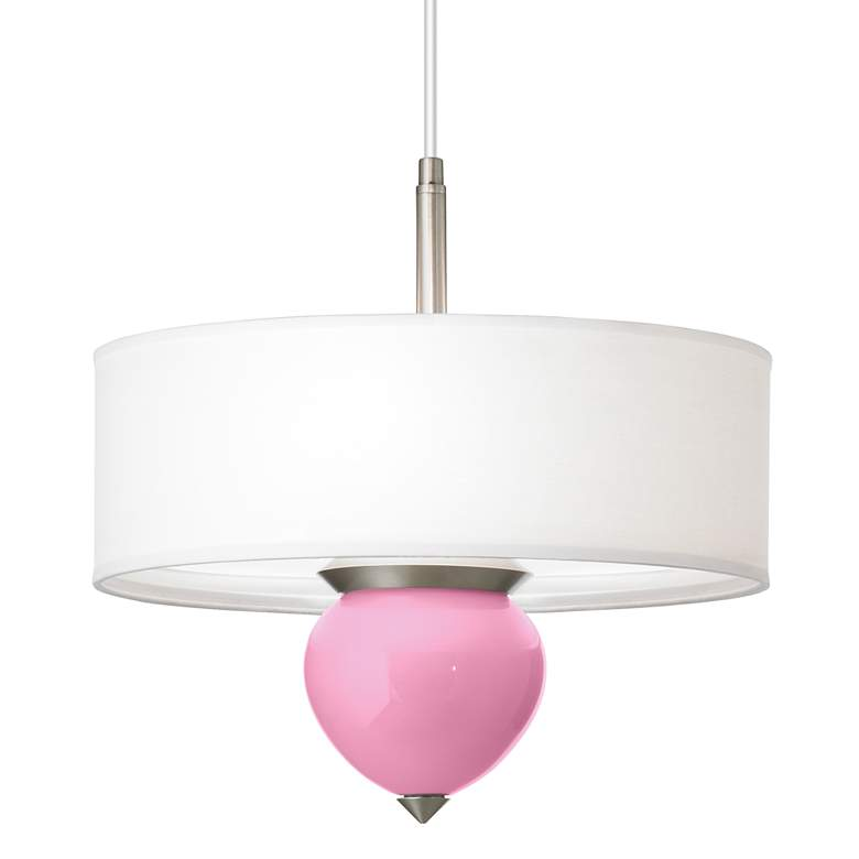 """Candy Pink Cleo 16"""" Wide Pendant Chandelier"""