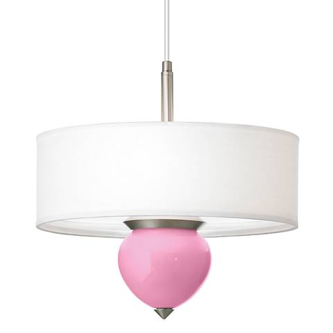 "Pale Pink Cleo 16"" Wide Pendant Chandelier"