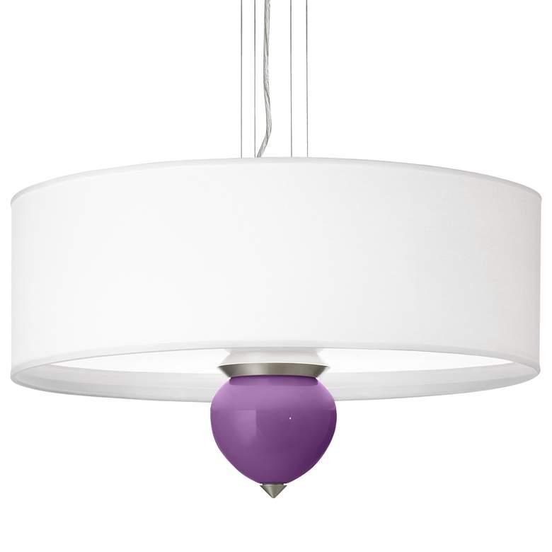 "Passionate Purple Cleo 24"" Wide Pendant Chandelier"