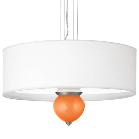 "Burnt Orange Metallic Cleo 24"" Wide Pendant Chandelier"