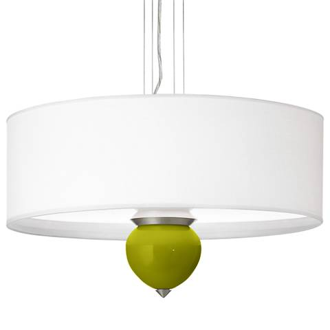 "Olive Green Cleo 24"" Wide Pendant Chandelier"