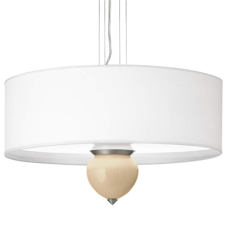 "Colonial Tan Cleo 24"" Wide Pendant Chandelier"