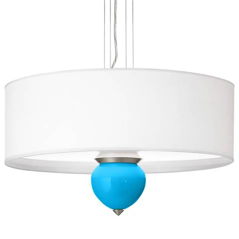 "Sky Blue Cleo 24"" Wide Pendant Chandelier"