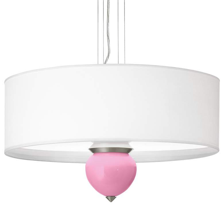 "Candy Pink Cleo 24"" Wide Pendant Chandelier"