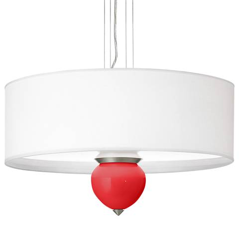 "Poppy Red Cleo 24"" Wide Pendant Chandelier"