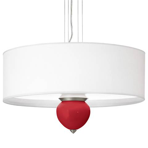 "Ribbon Red Cleo 24"" Wide Pendant Chandelier"