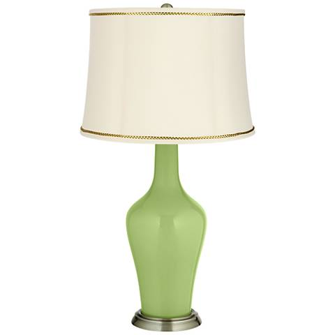 Lime Rickey Anya Table Lamp with President's Braid Trim