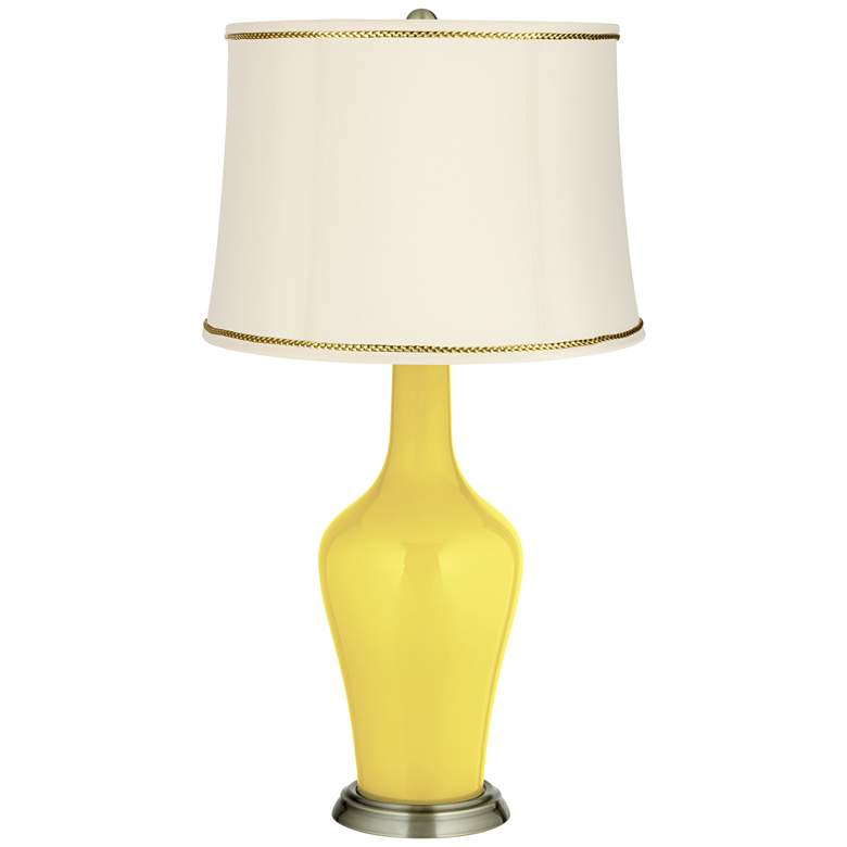 Lemon Twist Anya Table Lamp with President's Braid Trim