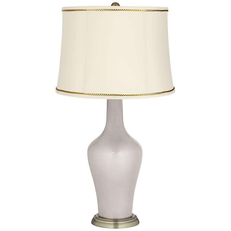 Silver Lining Metallic Anya Lamp with President's Braid Trim