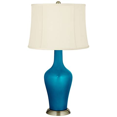 Turquoise Metallic Anya Table Lamp