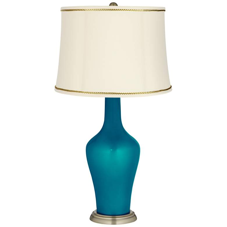 Turquoise Metallic Anya Lamp with President's Braid Trim