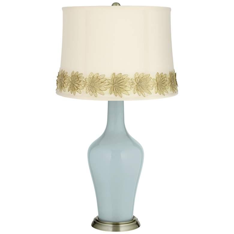 Rain Anya Table Lamp with Flower Applique Trim