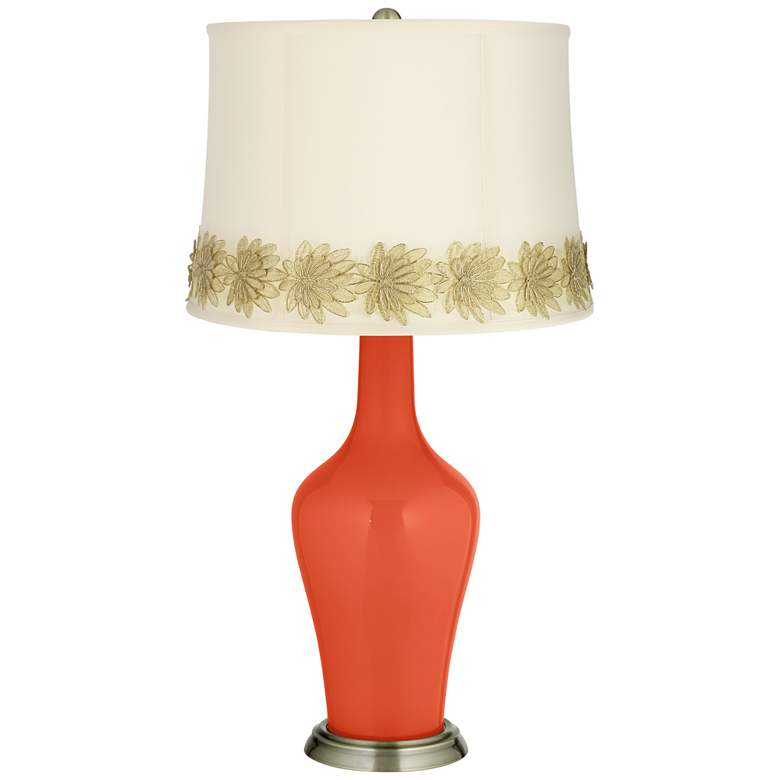 Daredevil Anya Table Lamp with Flower Applique Trim