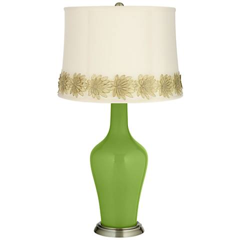 Gecko Anya Table Lamp with Flower Applique Trim