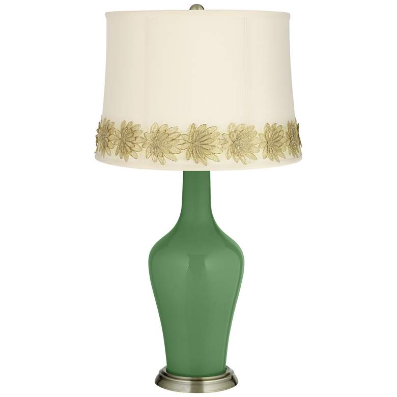 Garden Grove Anya Table Lamp with Flower Applique Trim