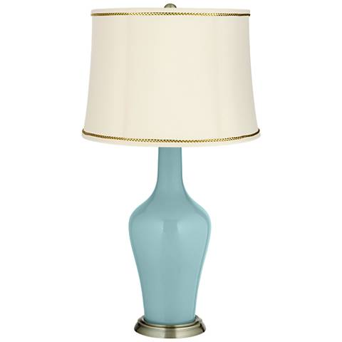 Raindrop Anya Table Lamp with President's Braid Trim