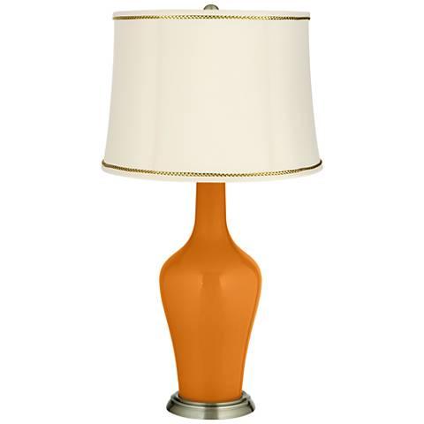 Cinnamon Spice Anya Table Lamp with President's Braid Trim