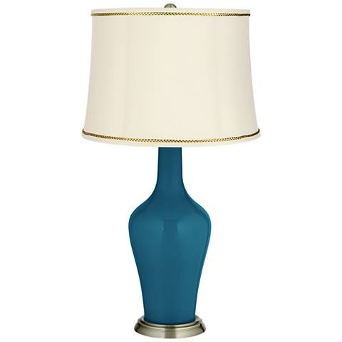 Oceanside Anya Table Lamp with President's Braid Trim