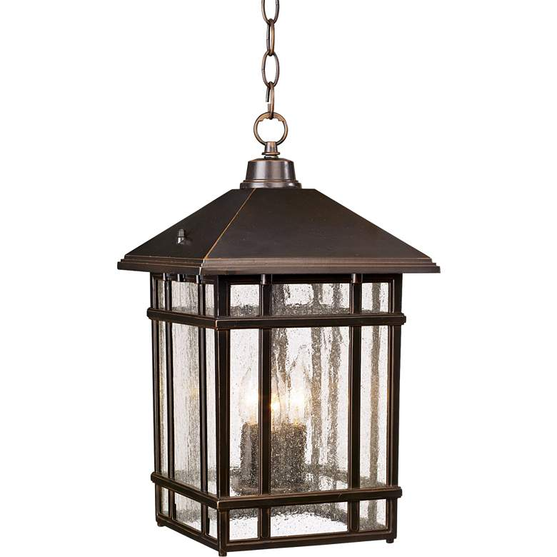 "J du J Sierra 16 1/2""H Bronze Outdoor Hanging Light"