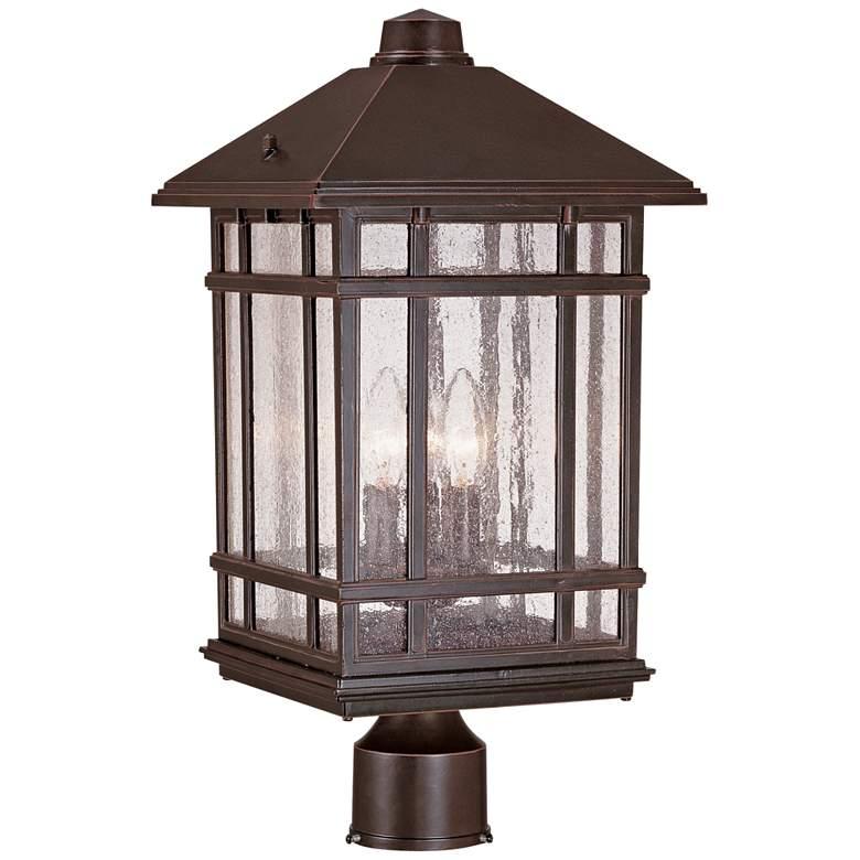 "J du J Sierra Craftsman 18""H Bronze Outdoor Post Mount Light"