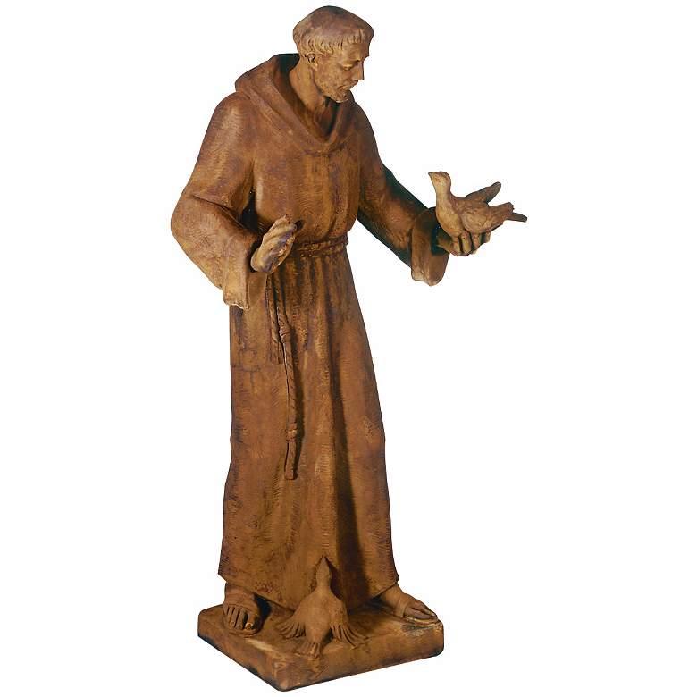 "St. Francis with Birds 33"" Cast Stone Garden Sculpture"